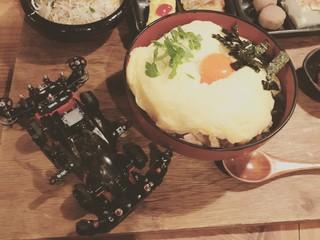 親子丼とサンダーJr